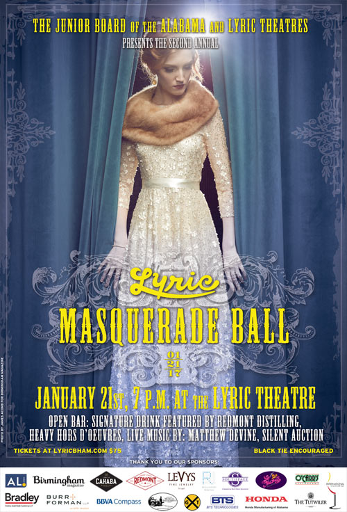 Proud Sponsor of the Lyric Masquerade Ball in Birmingham, Alabama
